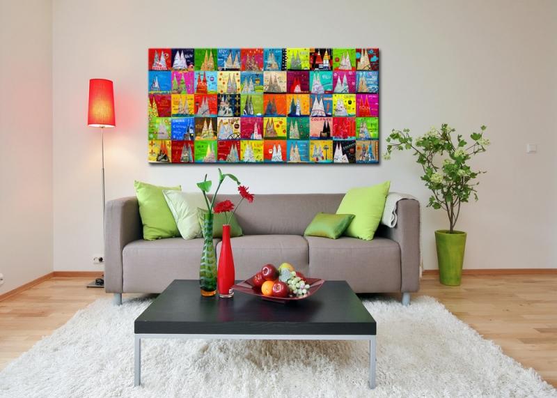 kunstdruck k lner dom k ln mosaik collage ebay. Black Bedroom Furniture Sets. Home Design Ideas
